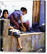 Guatemalan Children Gathered Acrylic Print