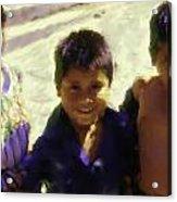 Guatemalan Kids Acrylic Print