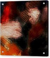 Guitar Traveling Pigments Acrylic Print
