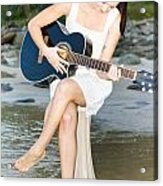 Guitar Woman Acrylic Print
