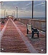Gulf State Pier Acrylic Print by Michael Thomas