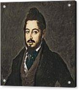 Gutierrez De La Vega, Jos� 1791-1865 Acrylic Print