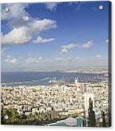 Haifa Bay Panorama Acrylic Print