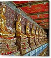 Hall Of Buddhas At Wat Suthat In Bangkok-thailand Acrylic Print