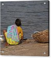 Hampi River Scenes Acrylic Print