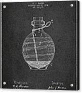 Hand Grenade Patent Drawing From 1884 Acrylic Print by Aged Pixel
