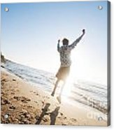 Happiness In The Beach Scenery Acrylic Print