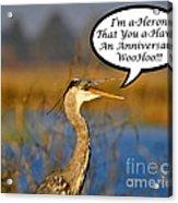 Happy Heron Anniversary Card Acrylic Print