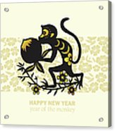 Happy New Year, Year Of The Monkey 2016 Acrylic Print