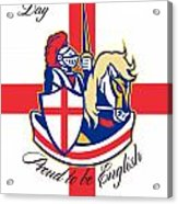 Happy St George Day Proud To Be English Retro Poster Acrylic Print