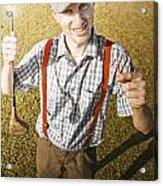 Happy The Golf Man Acrylic Print