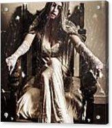 Haunting Horror Scene With A Strange Vampire Girl  Acrylic Print