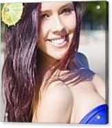Hawaiian Girl In Hawaii Acrylic Print