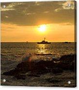 Hawaiian Waves At Sunset Acrylic Print