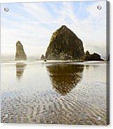 Haystack Rock At Cannon Beach Acrylic Print