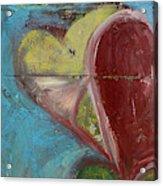 Heart Shape Painted On A Wall, Safed Acrylic Print