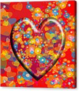 Hearts And Flowers Acrylic Print