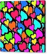 Hearts Acrylic Print by Louisa Knight