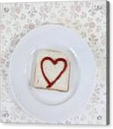 Hearty Toast Acrylic Print by Joana Kruse