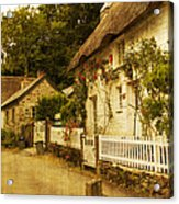 Helford Cottages Acrylic Print