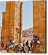 Hellenistic Gateway In Petra-jordan  Acrylic Print