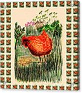 hen Acrylic Print