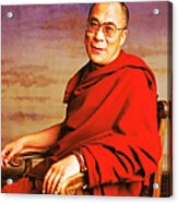 H.h. Dalai Lama Acrylic Print by Jan W Faul