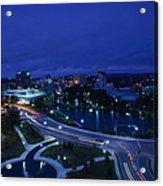 High Angle View Of A City, Big Spring Acrylic Print