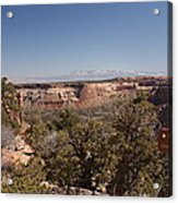 Hiking National Monument  Acrylic Print by Michael J Bauer