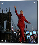 Hillary Clinton Campaigns In Ohio Ahead Acrylic Print