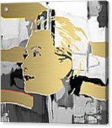 Hillary Clinton Gold Series Acrylic Print