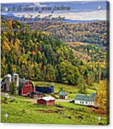 Hillside Acres Farm Acrylic Print