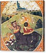 Hindu Goddess Durga Fights Mahishasur Acrylic Print