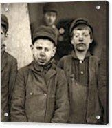 Hine Breaker Boys, 1911 Acrylic Print