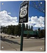 Historic Route Us 40 Sign Acrylic Print