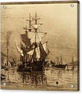 Historic Seaport Schooner Acrylic Print
