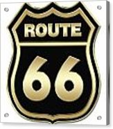 Historical Route 66 Sign Illustration Acrylic Print