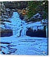 Hocking Hills State Park In Winter Acrylic Print