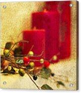 Holiday Candles Acrylic Print
