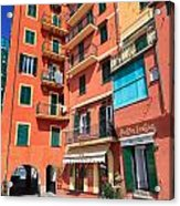 homes and promenade in Camogli Acrylic Print