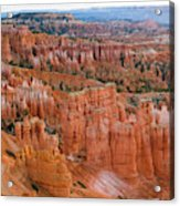 Hoodoo Rock Formations In A Canyon Acrylic Print