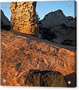Hoodoos At Sunset Acrylic Print