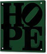Hope In Green Acrylic Print