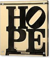 Hope In Sepia Acrylic Print