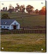 Horse Farm Sunset Acrylic Print