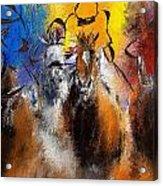 Horse Racing Abstract  Acrylic Print