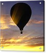 Hot Air Balloon At Sunset. Acrylic Print
