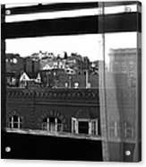 Hotel Window Butte Montana 1979 Acrylic Print