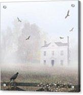 House In Fog Acrylic Print