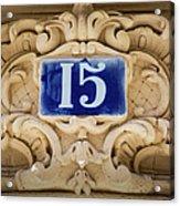 Building Number - Paris Acrylic Print
